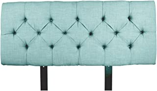 product image for MJL Furniture Designs Jackie Collection Padded and Diamond Tufted Upholstered Solid Wood Full Size Headboard, HJM100 Series, Sea Mist
