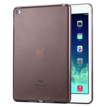 FAS1 Funda para iPad Mini 4, Transparente Suave TPU Silicona Carcasa Trasera Protector De para Apple iPad Mini 4 (Negro)