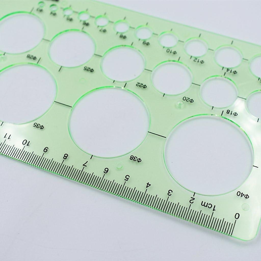 Stilvoll Fliyeong/ Zeichnung Kreis Lineal Kunststoff Multifunktionsmodell Fu/ß Mathematische Grafik Messlineal Runde Vorlage Design Kreis Lineal 1 STK