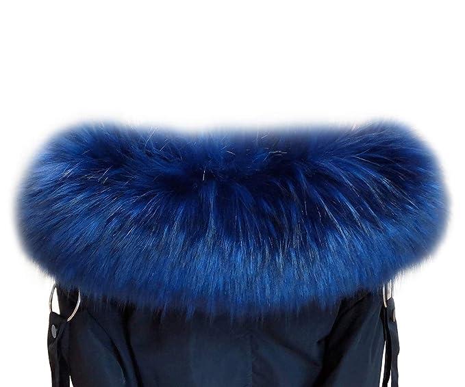 VEVESMUNDO Desmontable Cuello de Pelo Bufanda Estola del Cuello de Sintetica Postizo Piel Para Otoño Invierno