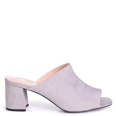 9b0ba1e2076 Linzi Vanessa - Grey Suede Open Toe Mule  Amazon.co.uk  Shoes   Bags