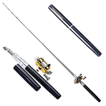 Meiyu Mini Telescopic Rod Combo Travel Mate Fishing Pen Portable Casting Rod Pocket Pen Fishing Combo