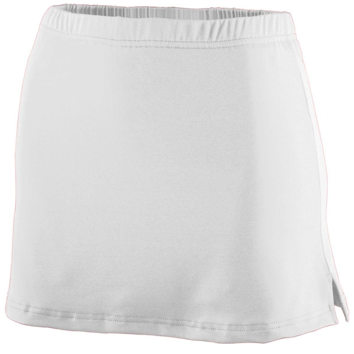 Augusta Sportswear WOMEN'S POLY/SPANDEX TEAM SKORT - White 751A S