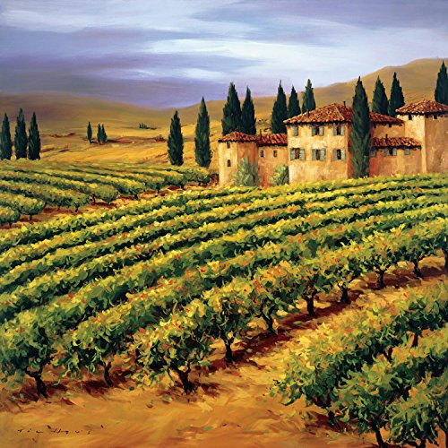 Villa in the Vinyards of Tuscany , 20x20in. (paper)