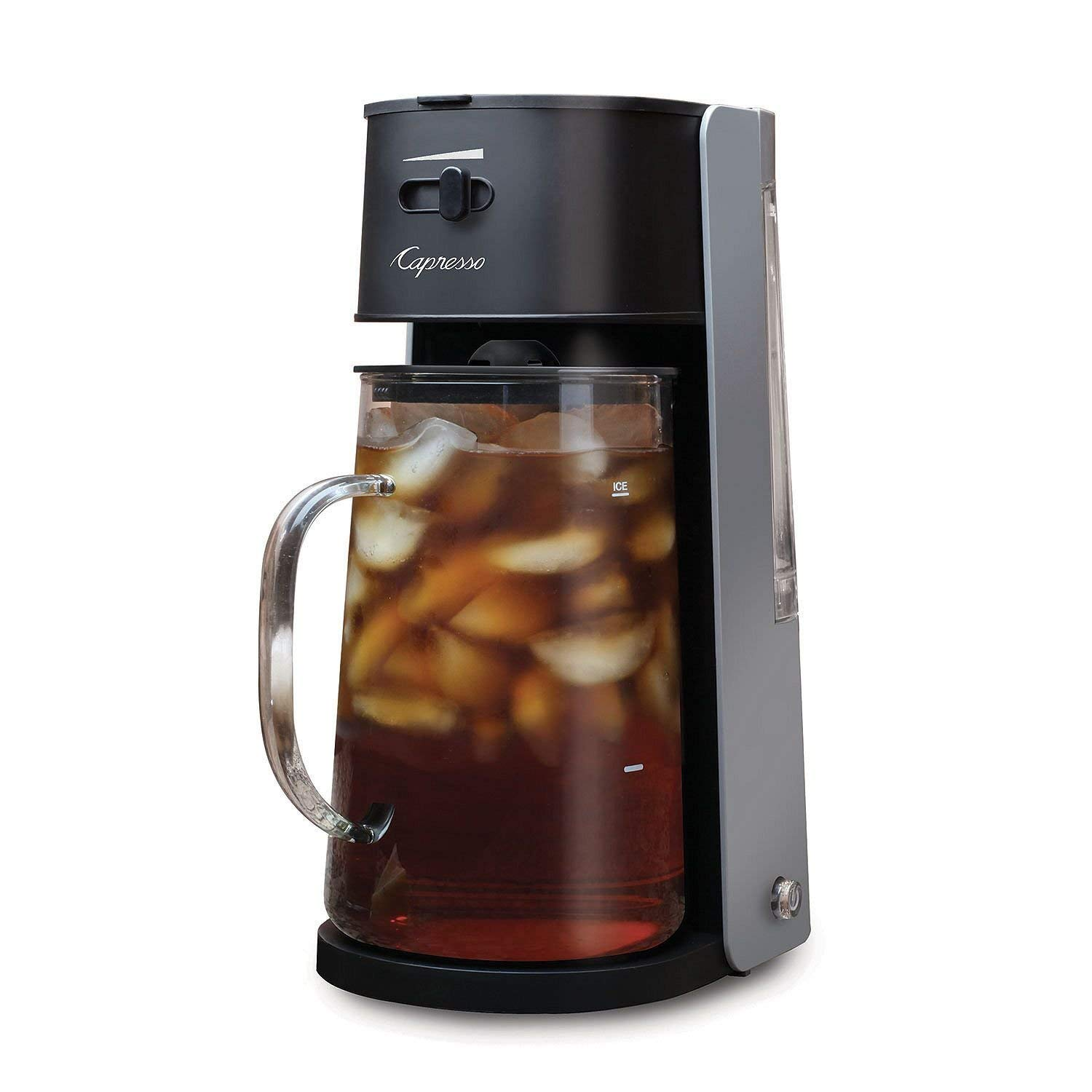2 Items Capresso Iced Tea maker w// 80oz Glass Carafe /& Removable Water Tank Bundle with Gallon-Sized Black Iced Tea Bags Unsweetened 48 Ct