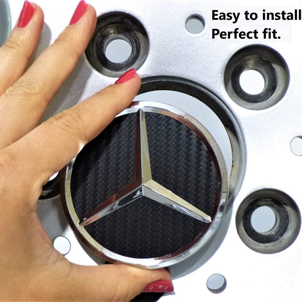 Black Center Wheel Hub Caps for Mercedes-Benz
