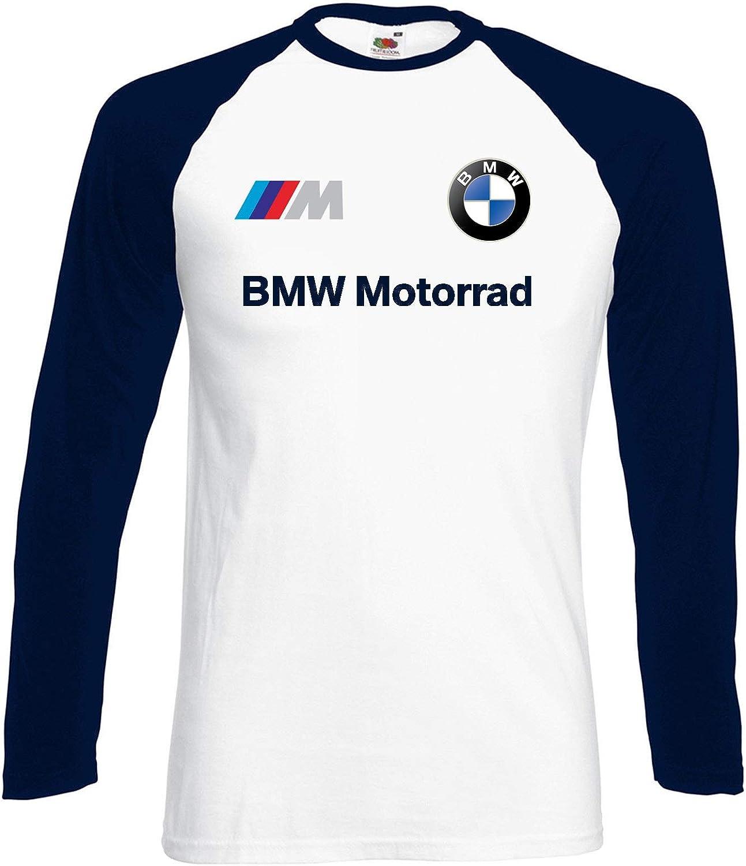 Camiseta Manga Larga T-Shirt Deportiva Hombre BMW Motorrad Team Italia Motorsport Tuning Coche Moto Auto Azul SBLN03: Amazon.es: Ropa y accesorios