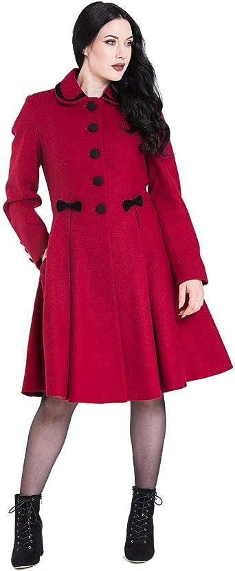 Hell Bunny Olivia Bow Vintage Style Coat