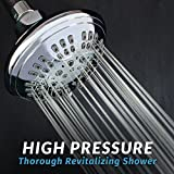 ShowerMaxx ​Shower Head ​6 Spray Settings | Luxury Spa Grade Fixed High Pressure Showerhead ​| Adjustable Brass Swivel Ball Joint & Teflon Tape | ​Premium Polished Chrome Finish
