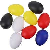 Toddmomy 10 Piezas de Plástico Agitadores de Huevo Percusión Musical Maracas Huevos de Pascua Instrumento de Aprendizaje…
