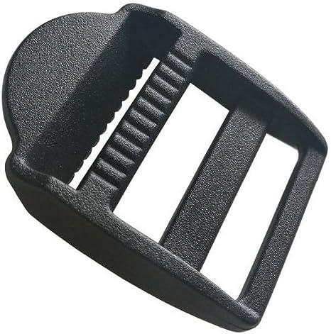 Plastic Adjustable Schoolbag Belt Tension Fastener   Glide Buckles Black 20pcs