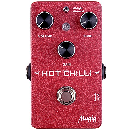 British Guitar (Mugig Distortion Guitar Effect Pedal Mugig , Classic British Style Distortion Guitar Effects Pedal with 2 Mode bright/normal, True Bypass)
