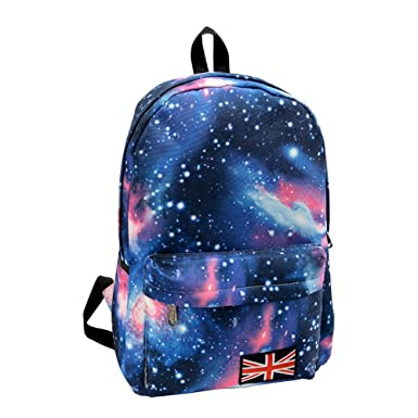 Minetom Lona Backpack Mochilas Escolares Mochila Escolar Casual Bolsa Viaje Moda Estrellas Nebulosa Universo Mujer Azul One Size: Amazon.es: Ropa y ...
