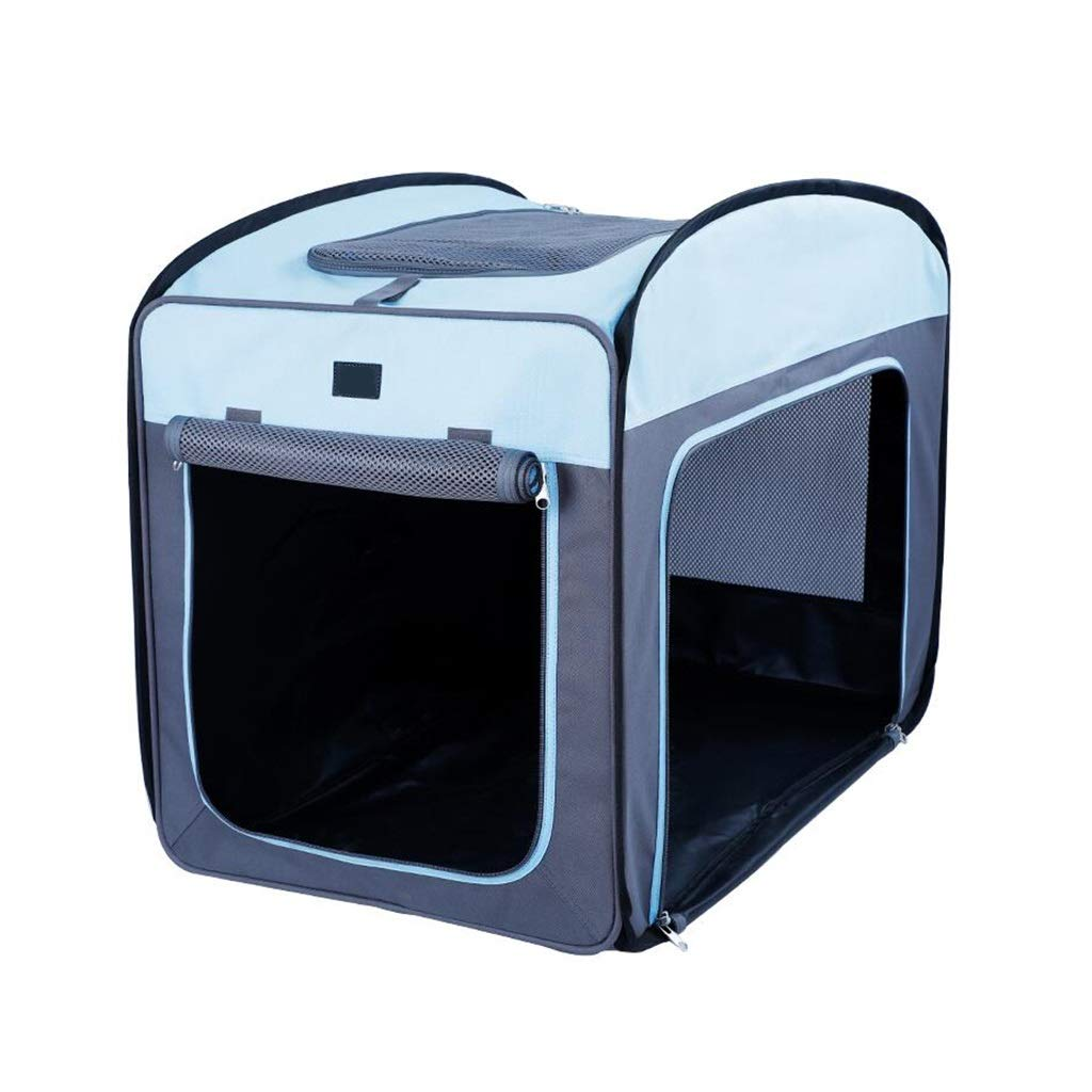 L SN Pet Tent Puppy,Pet Kennel Cage Portable Foldable Indoor Outdoor Waterproof Durable Pet Playpen (bluee) (Size   L)