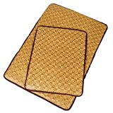 Glield Summer Breathable Bamboo Mat, Cooling Mat Bed for Dogs and Cats, Rectangle, S, M, L Size PD02 (S (48cm 38cm))