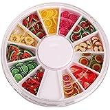 XCSSKG - Estuche de rodajas de Frutas Perfecto para Pegar a Slime, Manualidades, Decoración