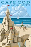 Cape Cod, Massachusetts - Sand Castle (9x12 Art Print, Wall Decor Travel Poster)