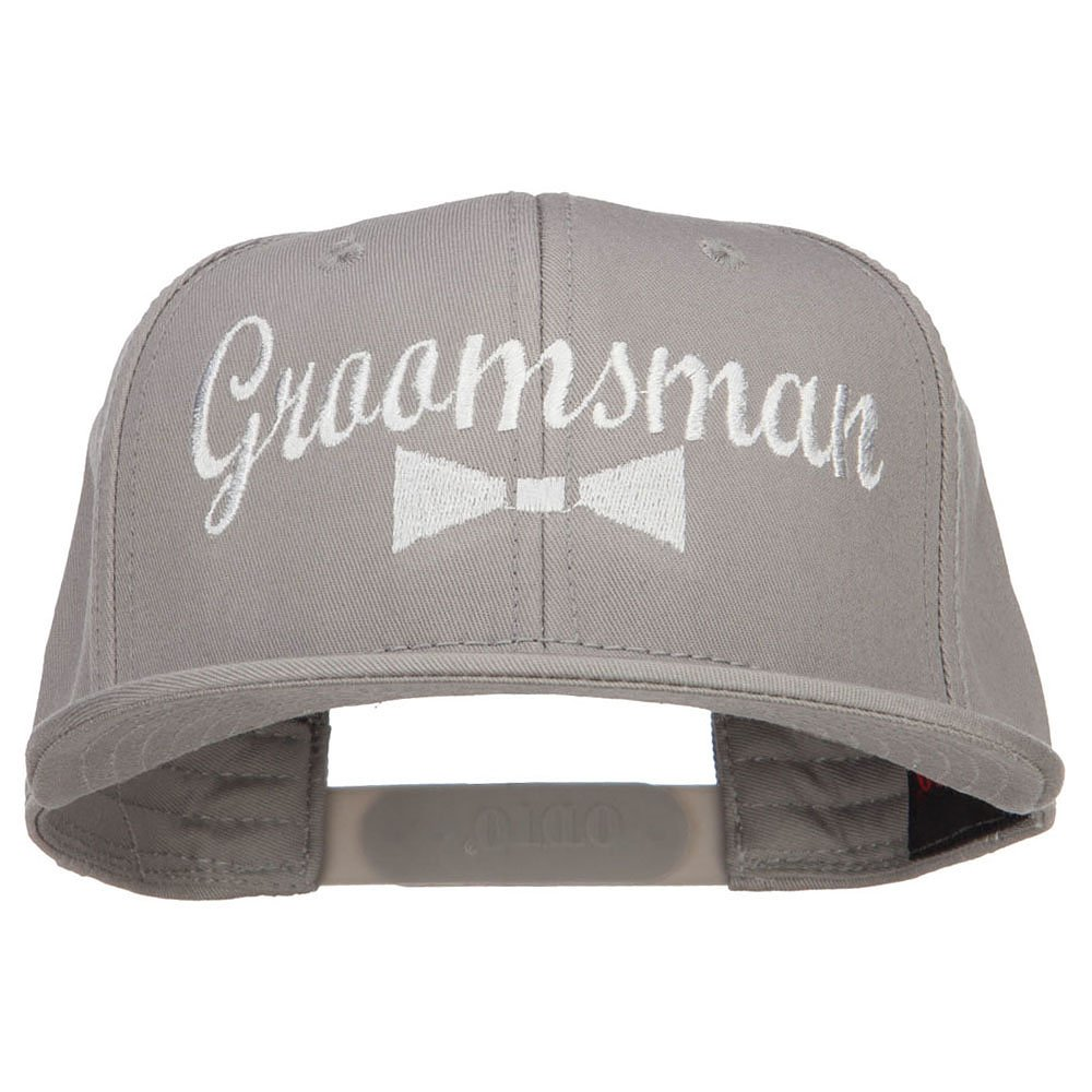 e4Hats.com Groomsman Bow Tie Embroidered Cotton Snapback