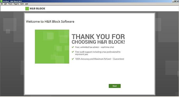 h & r block tax software 2019