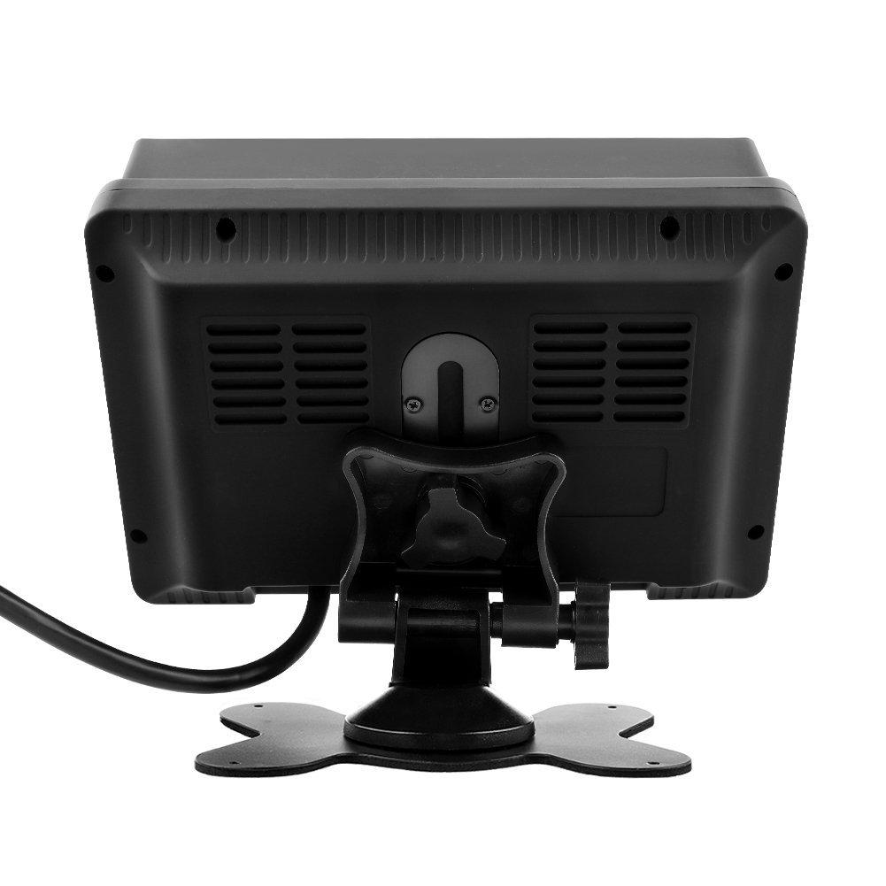 /… MiCarBa 7 Inch Car Quad Video Input LCD Car Monitor,Car Reversing Kit For CCTV Security Surveillance Car Headrest Rear View Camera Monitor AV Input CL718F