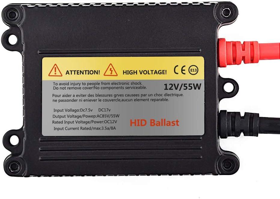 Hid Ballast 55W DC 12V 55W Super Slim Hid Ballast Kit for H1 H3 H4 H7 H8 H9 H11 9005 9006