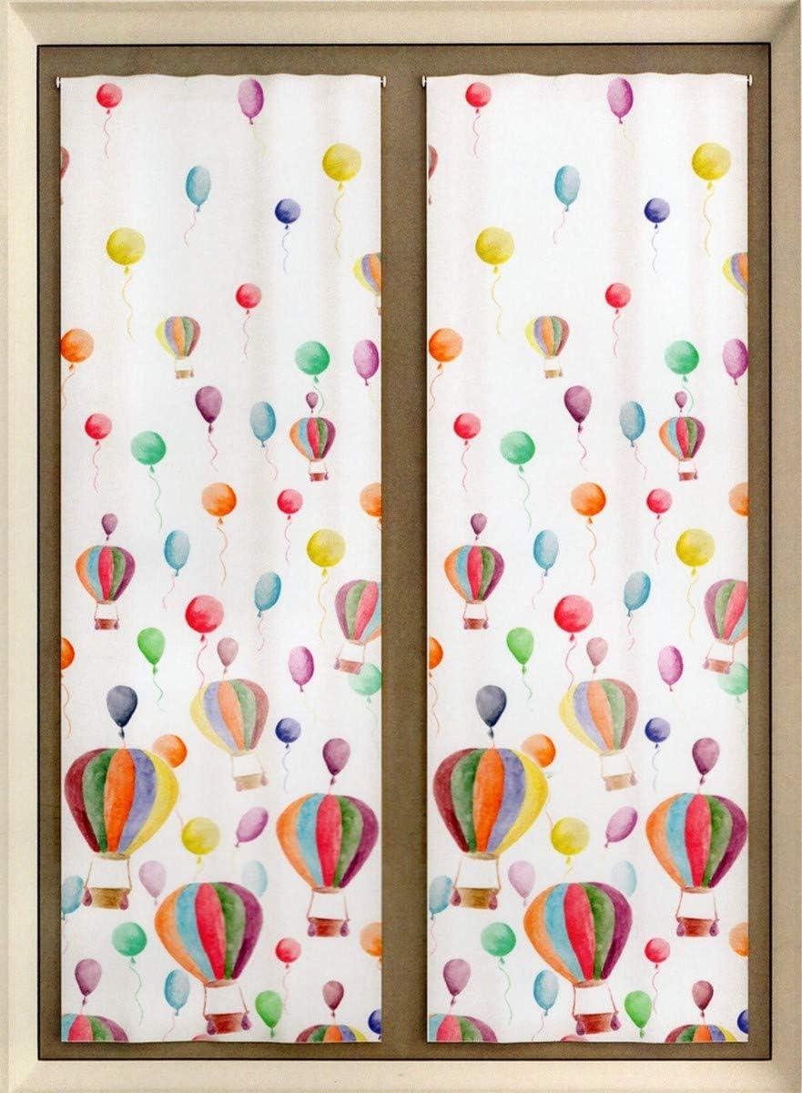 Paire vitrages Voilage Polyester chambre denfants fen/être 2x60x150 cm-2 voilages pr/êt-/à-poser- A - fen/être 2 * 60x150 cm