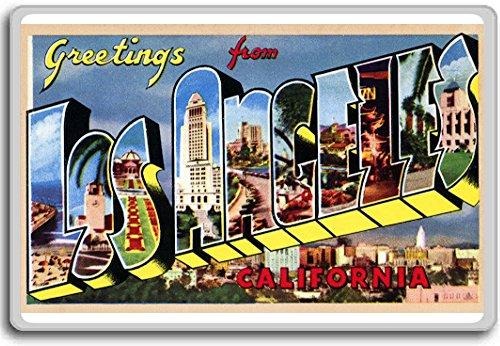 Magnet Postcard - Greetings From Los Angeles, California - Vintage 1940s Postcard fridge magnet