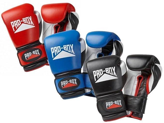 Pro-Box Face Saver Bar Leather Headguard Black ProBox Boxing Kickboxing Striking