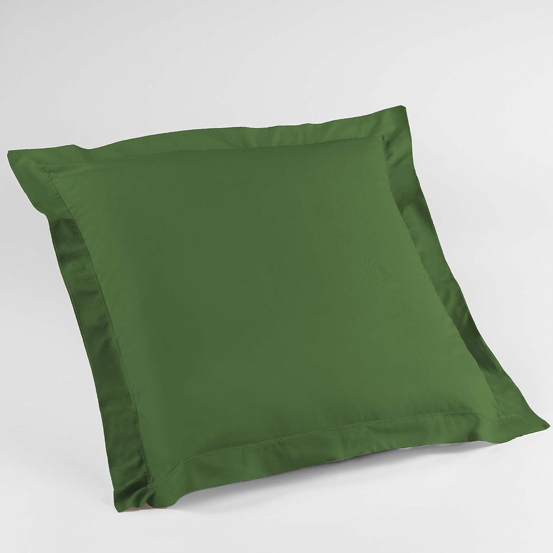 Vert Sapin Douceur dInt/érieur Lina Taie de Traversin 85 x 185 cm Coton