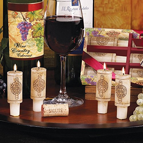 Set Candle Wine Cork (Wine Cork Candles Gift Set of 6 Wine Party Centerpiece)