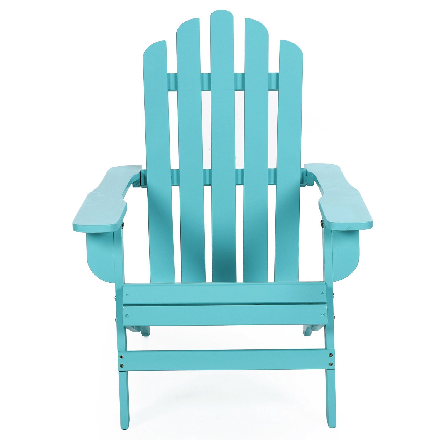 Azbro Outdoor Wooden Fashion Adirondack chair/Muskoka Chairs Patio Deck Garden Furniture,Turquoise by Azbro (Image #2)