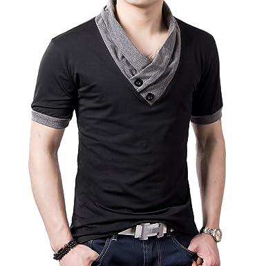 aa6b4eae710b Style V-Neck Designer T-Shirt Men (X-Large): Amazon.in: Clothing ...