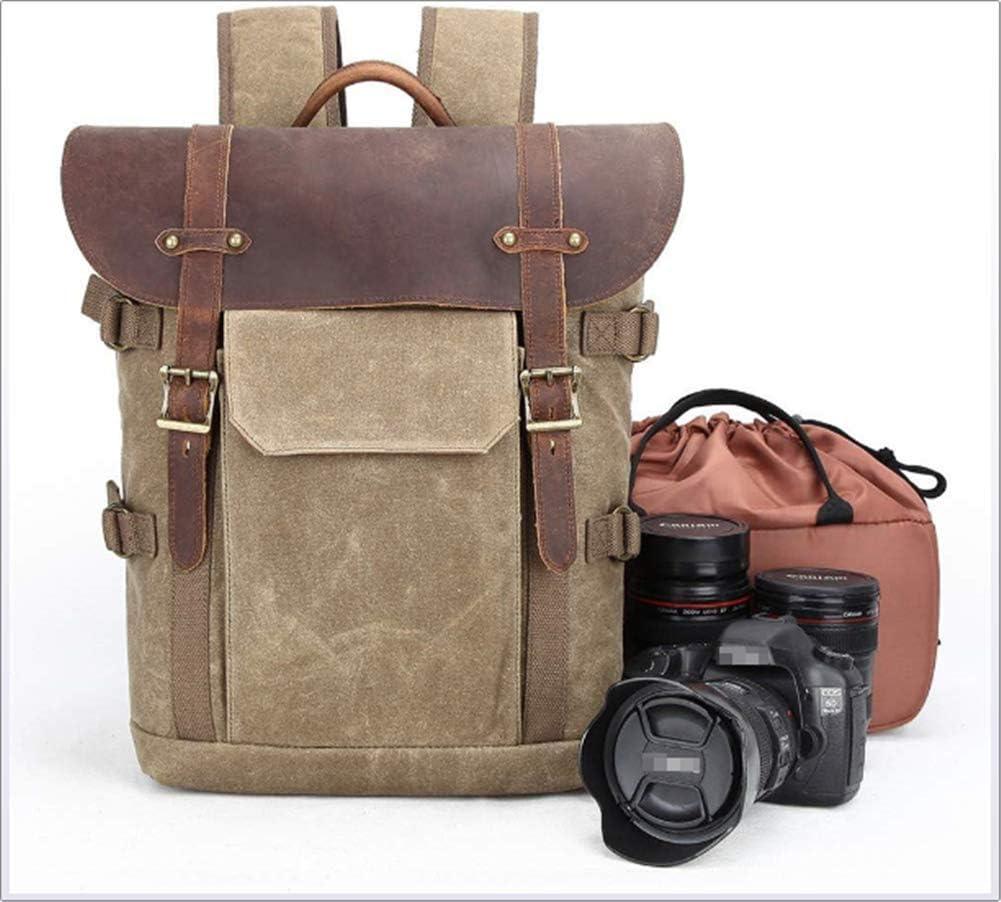 Camera Backpack Canvas SLR DSLR Camera Bag Rucksack Large Capacity Front Open Waterproof Anti-Shock Camera Travel Bag Professional Camera Lens Organizer