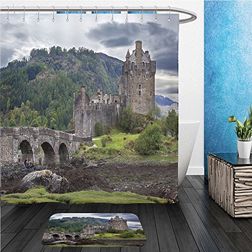 Beshowereb Bath Suit: ShowerCurtian & Doormat eilean donan castle scotland 107181467