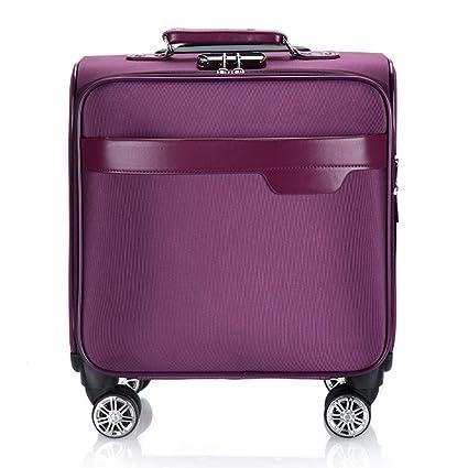 Maleta de equipaje de mano para viaje con equipaje súper ligero con 4 ruedas, compartimiento