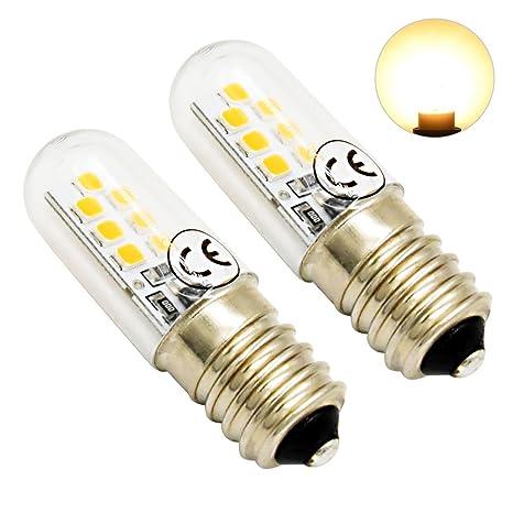 LuxVista 2.5W E14 Regulable Mini LED Luz de Maíz Bombilla para Refrigerador, Máquina de