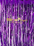 ShinyBeauty Foil Fringe Purple-6FTX10FT,Tinsel Foil Fringe Phtotgraphy Backdrop Curtain,Glitter Party Decorations
