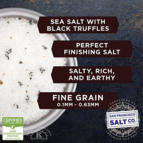 1 lb. Bulk Bag - Authentic Italian Black Truffle Salt by San Francisco Salt Company (Image #1)