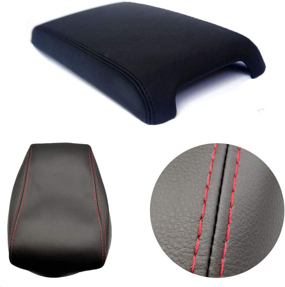 ALLMOST Fits 2012-2017 Toyota Camry Leather Center Console Lid Armrest Cover Skin Black
