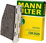 Mann-Filter CUK 2939 Cabin Filter With Activated Charcoal for select Audi/ Volkswagen models (Pack of 2)
