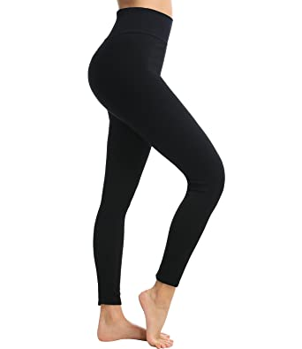814a843e2ce LANFEI Women High Waist Tummy Control Leggings Fleece Lined Stretchy  Slimming - Black - Large  Amazon.co.uk  Clothing