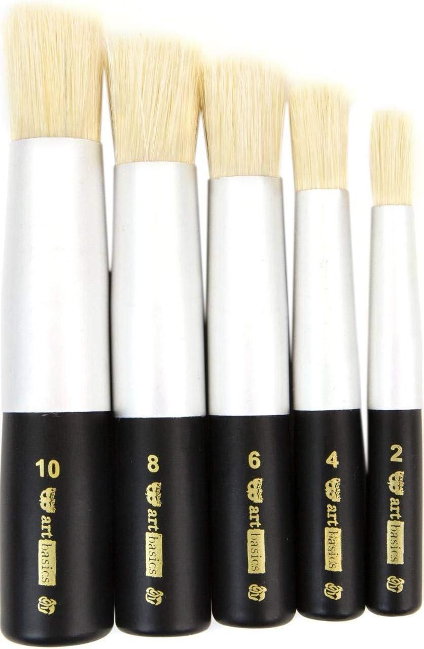 Finnabair Art Basics Dabbing Brush Set 5//Pkg 5 Sizes 965365