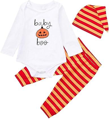 Amazon.com: Tronet Halloween - Pelele para bebé, 3 piezas ...