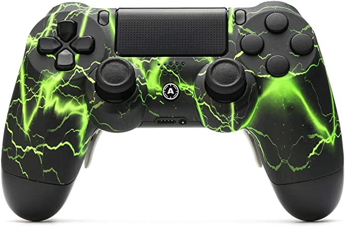 AimControllers Controlador PS4 Custom Wireless Controller, PlayStation 4 Gamepad Personalizado con 4 Palas, Storm Green [video game]: Amazon.es: Videojuegos