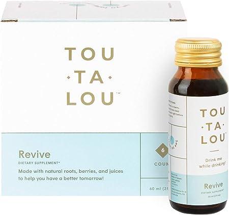 Toutalou Wellness Drink (Pack of 6) - Natural, Plant-Based Tonic - Dihydromyricetin (DHM), Kudzu Root, Red Sage, Goji Berry, Solomon's Seal - No Added Sugar
