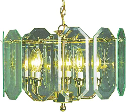 Volume Lighting V3195-C2 Chandelier, 17 x 17 x 12 , Polish Brass Finish