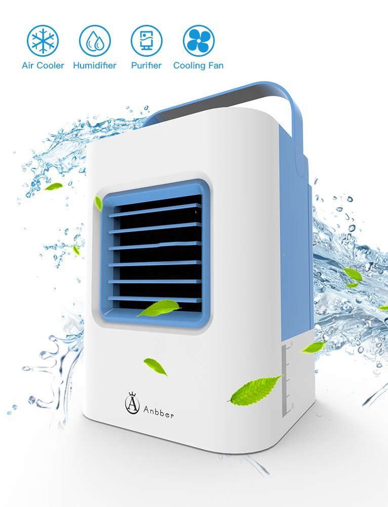 Portable Air Conditioner, Air Conditioner Portable, Quick & Easy Way to Cool Any Space, As Seen On Tv, Suitable for Bedside, Office and Study Room.Three Wind Level Adjustment