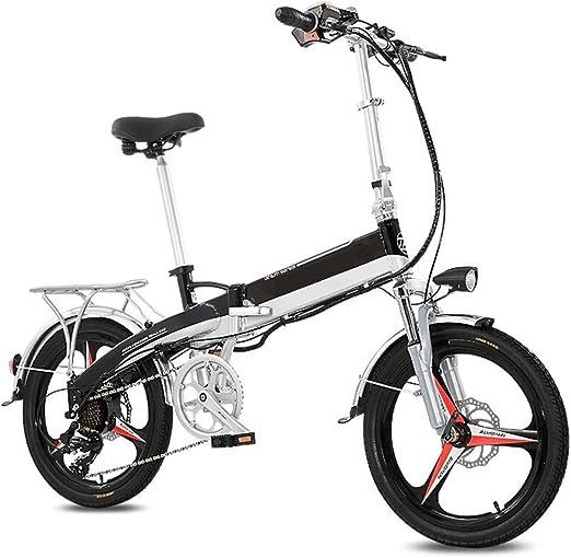 Bicicleta Eléctrica Coche eléctrico Batería plegable de bicicleta Coche 48V Adulto Doble Scooter de potencia pequeña Batería de litio Mini Bicicleta eléctrica Vida de cambio de 7 velocidades 120 Km: Amazon.es: Hogar