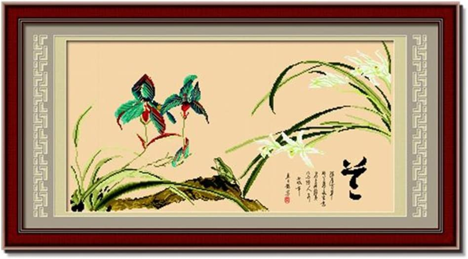 Bamboo DOMEI Stamped Cross Stitch Kit 31.9 x 18.9 inches