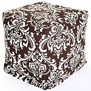 Majestic Home Goods Chocolate and White French Quarter Cube, Small
